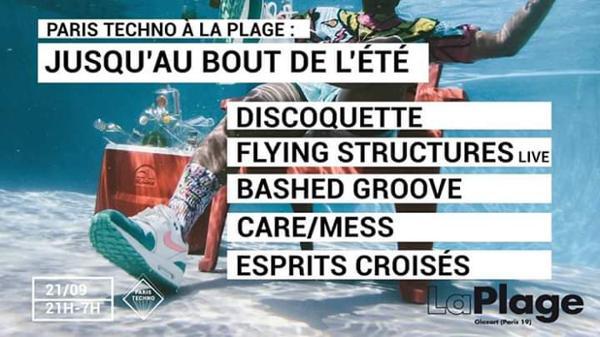 Paris Techno à la Plage : Jusqu'au Bout de l'Été [Open Air]
