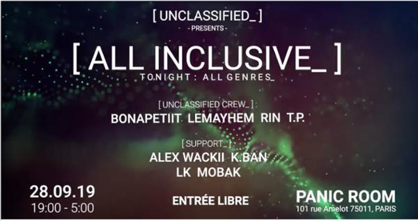 "Unclassified_ #6 | ""All Inclusive"""