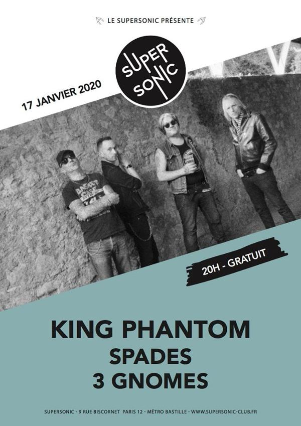 King Phantom • Spades • 3 Gnomes / Supersonic (Free)