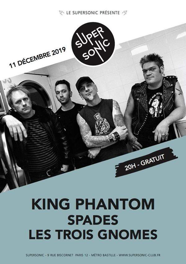 King Phantom • Spades • Les Trois Gnomes / Supersonic (Free)