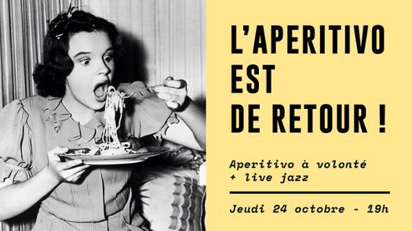 Le retour de l'Aperitivo & live jazz !