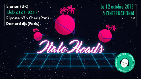 Italo Heads #1 w/Starion, Club Z1Z1, Riposte, Chéri