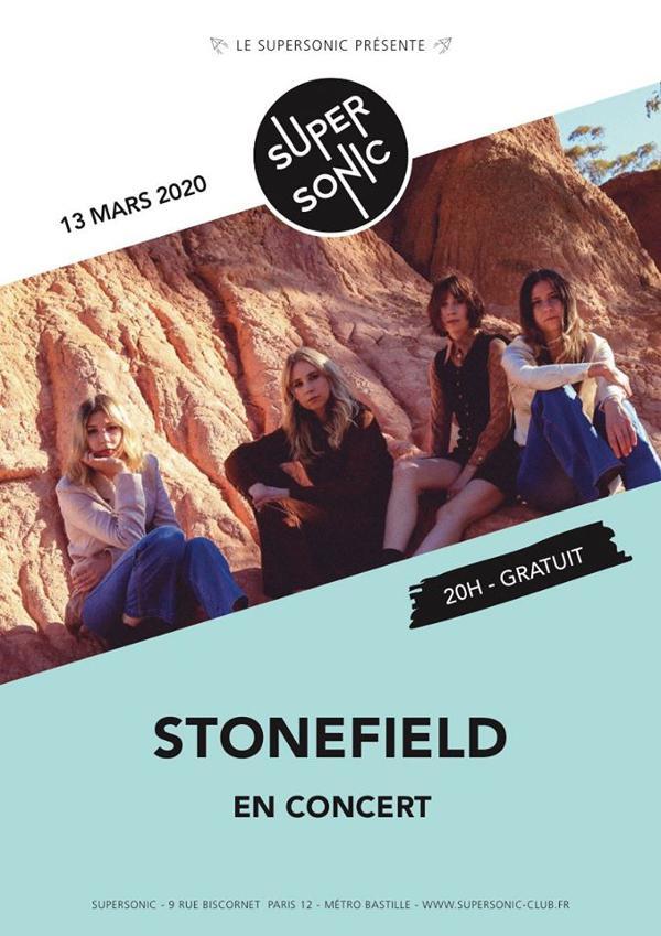 Stonefield (Flightless Records, AUS) en concert au Supersonic
