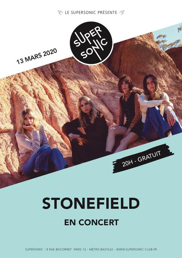 Stonefield (Flightless Records, AUS) en concert au Supersonic