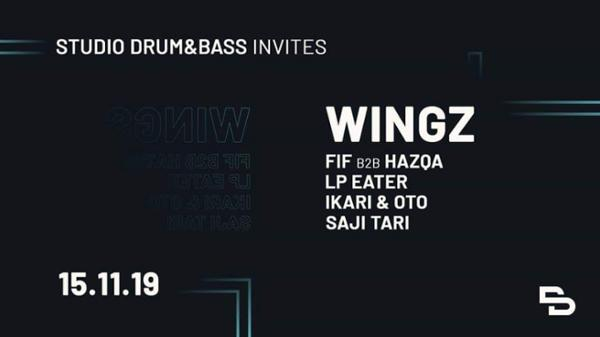Studio Drum & Bass Invite Wingz