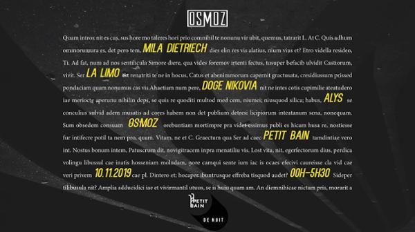 Osmoz présente : Mila Dietrich x Alys x Doge Nikovia x La Limo