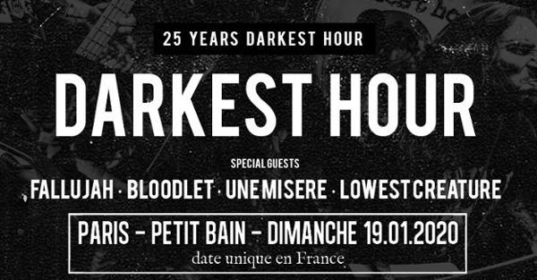 Darkest Hour, Fallujah, Bloodlet, Une Misère & guest // Paris