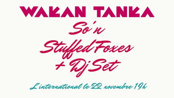 Wakan Tanka / So'n / Stuffed Foxes + Dj set