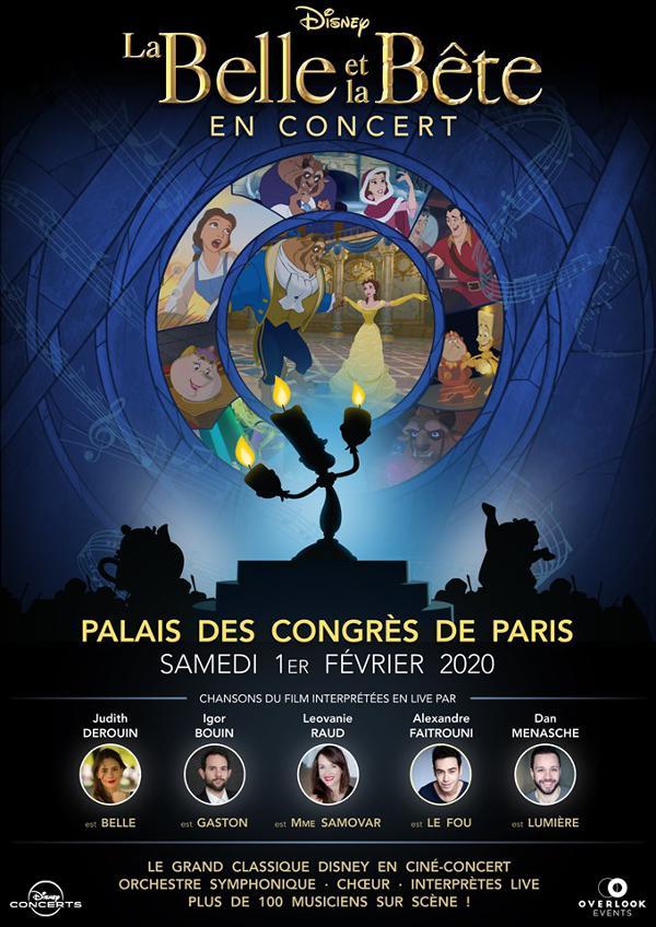 LA BELLE ET LA BÊTE : Le ciné-concert événement à ne pas rater, pour le bonheur des petits et grands. Au Palais des Congrès le 1er février 2020
