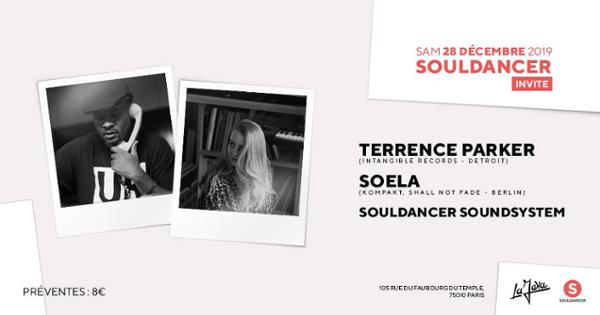 Souldancer invite : Terrence Parker, Soela & More