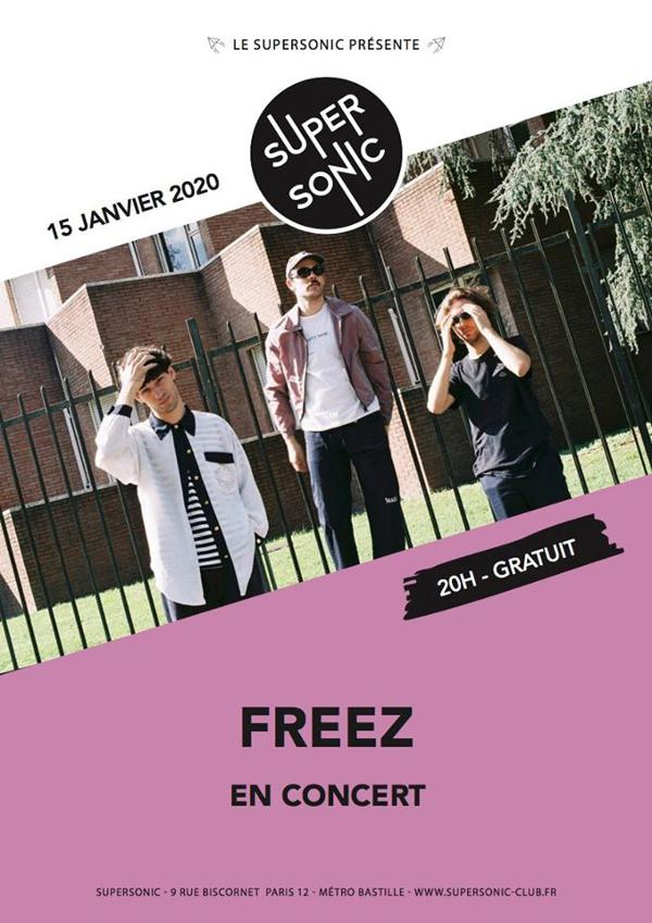 Freez en concert au Supersonic (Free entrance)