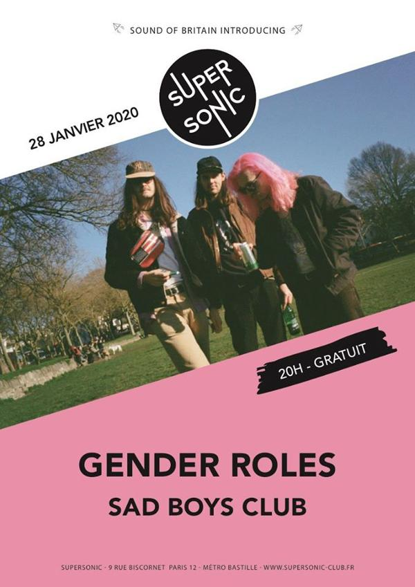 Gender Roles • Sad Boys Club / Supersonic (Free entry)