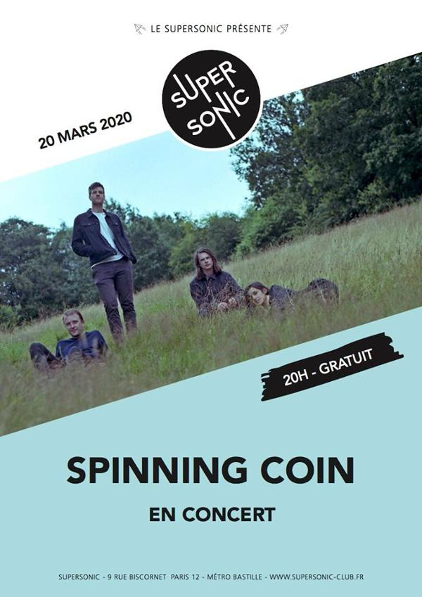 Spinning Coin en concert au Supersonic (Free entry)
