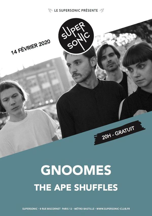 Gnoomes • The Ape Shuffles / Supersonic (Free entrance)