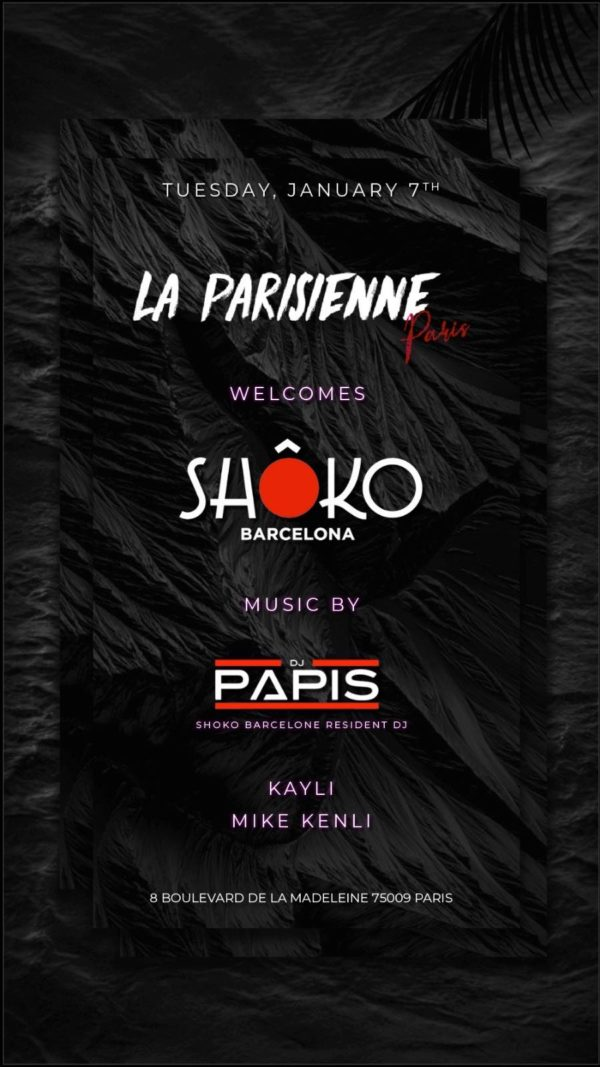 La Parisienne welcomes Shôko Barcelona