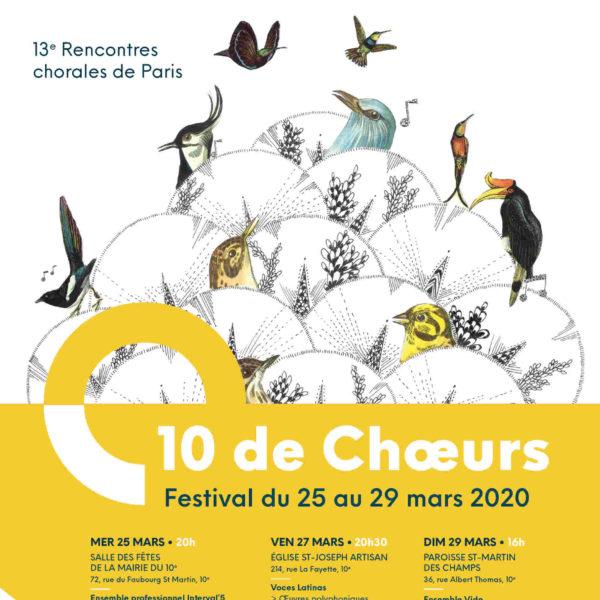 Festival 10 de Chœurs 2020 - Agapanthe + Boréale