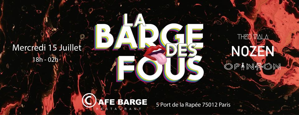 La Barge Des Fous - Cafe Barge