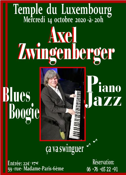 AXEL ZWINGENDERER concert annulé