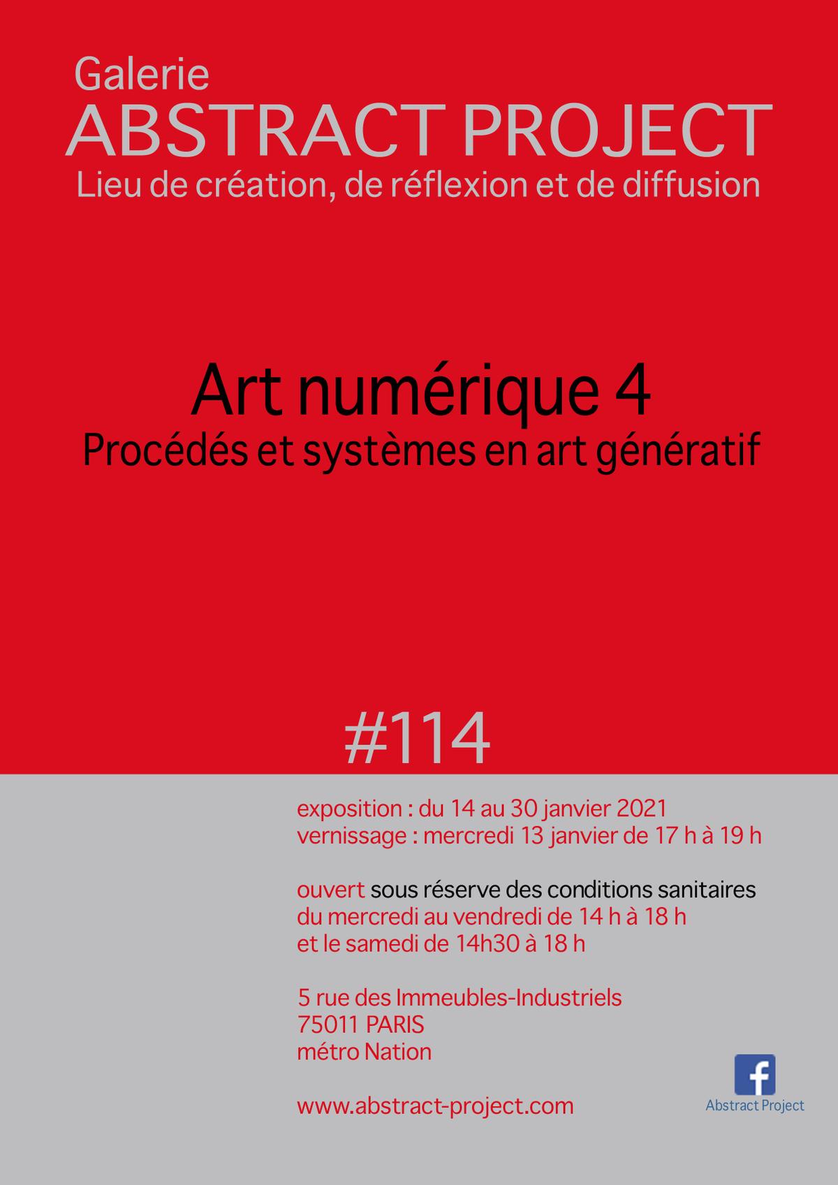 Art numérique 4 / Procédés et systèmes en art génératif