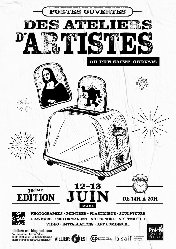 10e édition des Portes Ouvertes d'Ateliers d'Artistes du Pré Saint-Gervais
