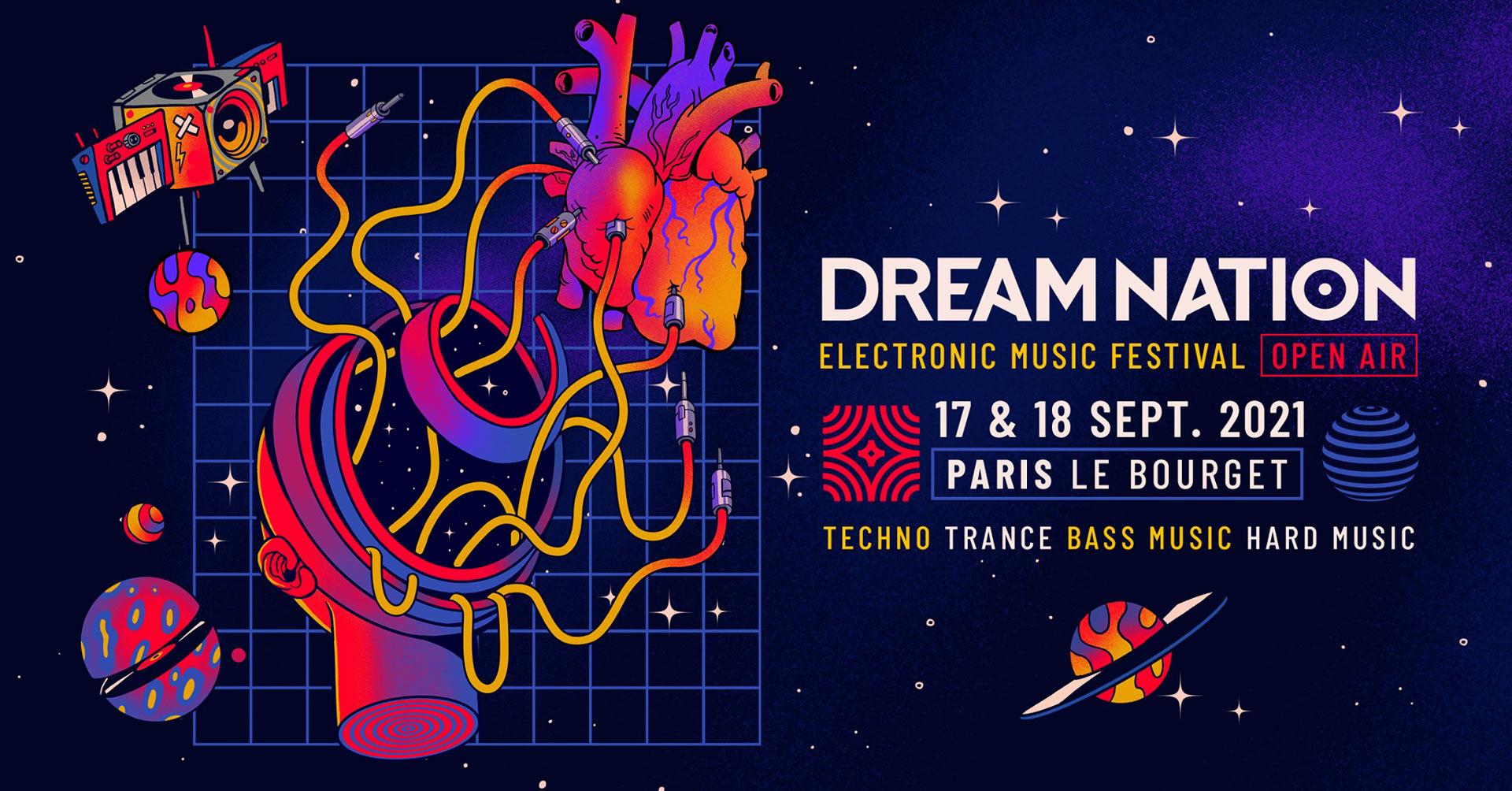 17 & 18 Septembre 2021 – DREAM NATION FESTIVAL – OPEN AIR - PARIS LE BOURGET
